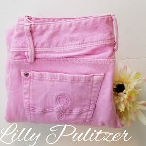 LILY PULITZER PINK SKINNY, LOW RISE JEANS, SIZE 6